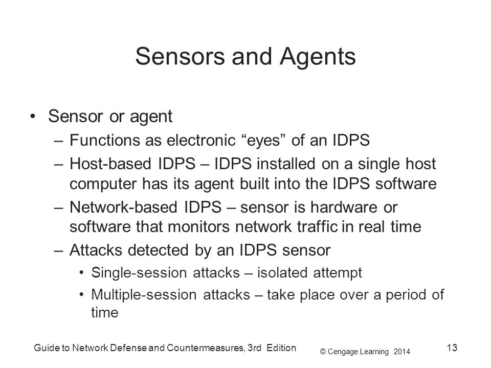 Sensors and Agents Sensor or agent