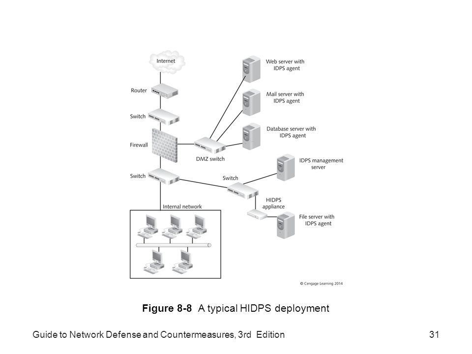 Figure 8-8 A typical HIDPS deployment