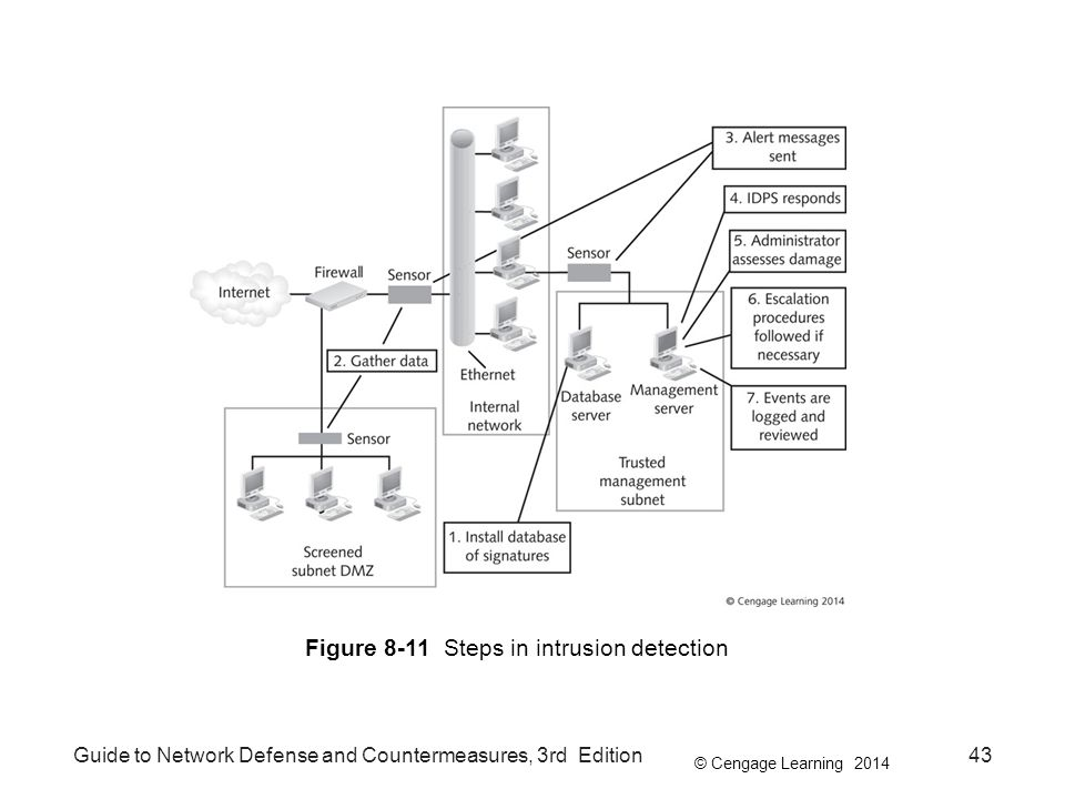 Figure 8-11 Steps in intrusion detection