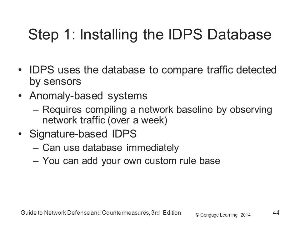 Step 1: Installing the IDPS Database
