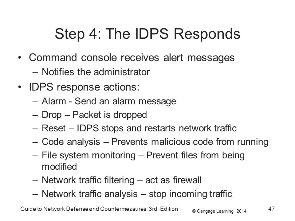 Step 4: The IDPS Responds