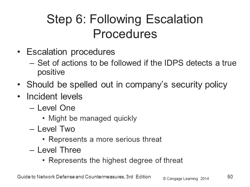 Step 6: Following Escalation Procedures