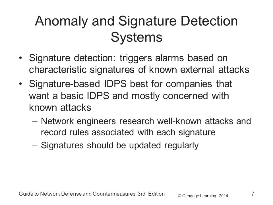 Anomaly and Signature Detection Systems