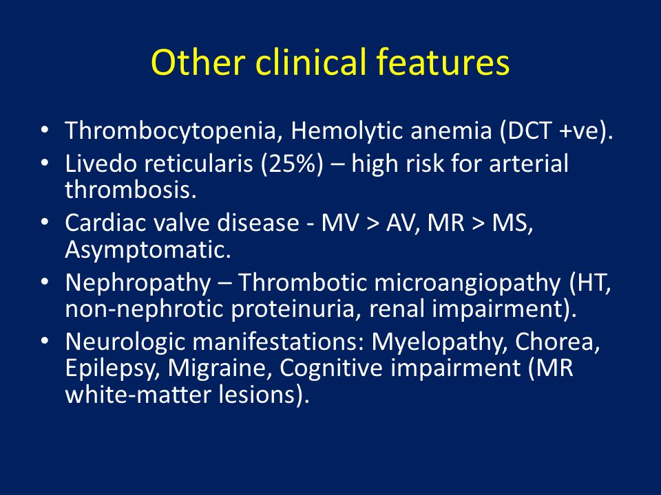 Other clinical features