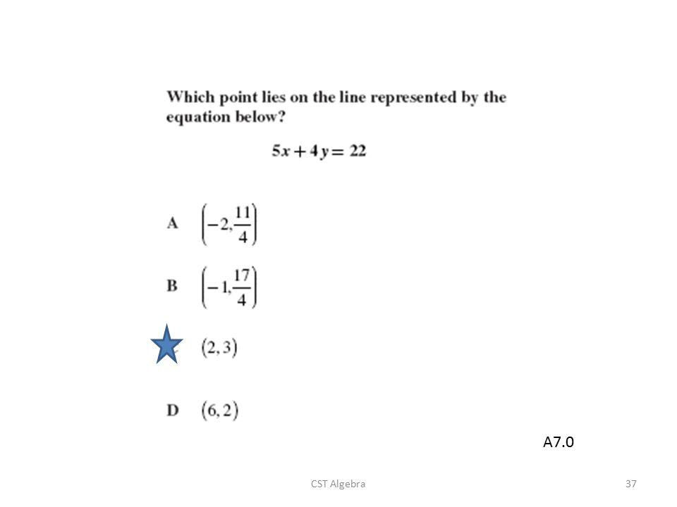 A7.0 CST Algebra