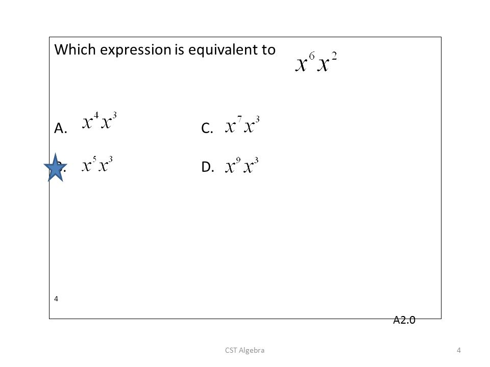 Which expression is equivalent to