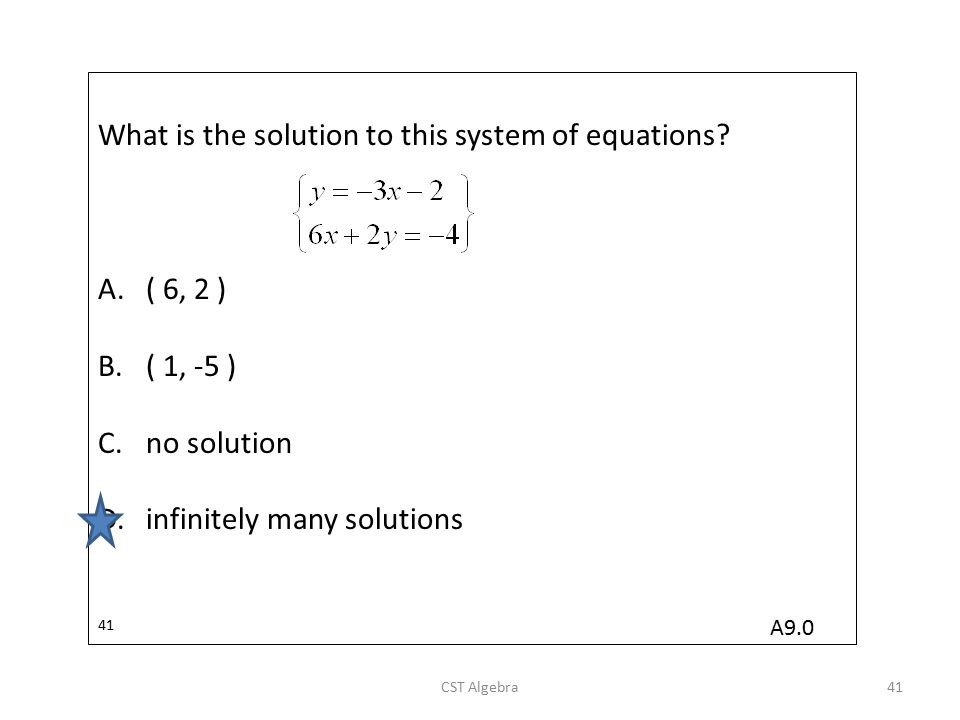 What is the solution to this system of equations