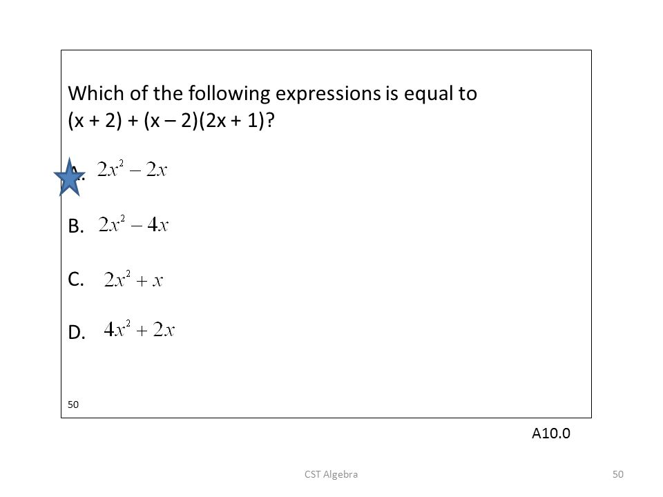 Which of the following expressions is equal to