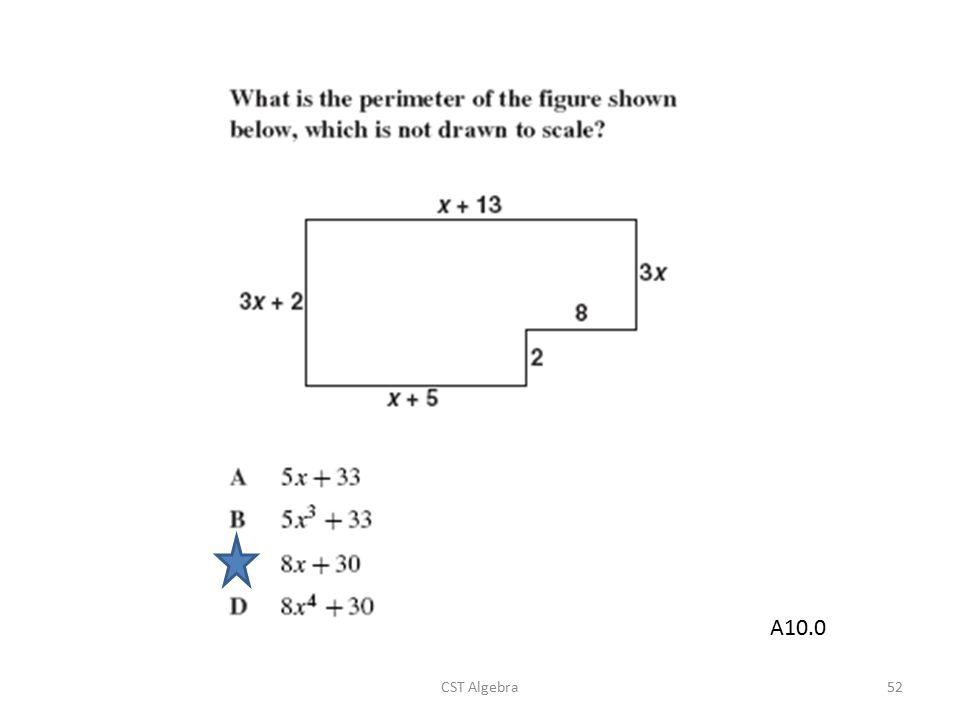 A10.0 CST Algebra