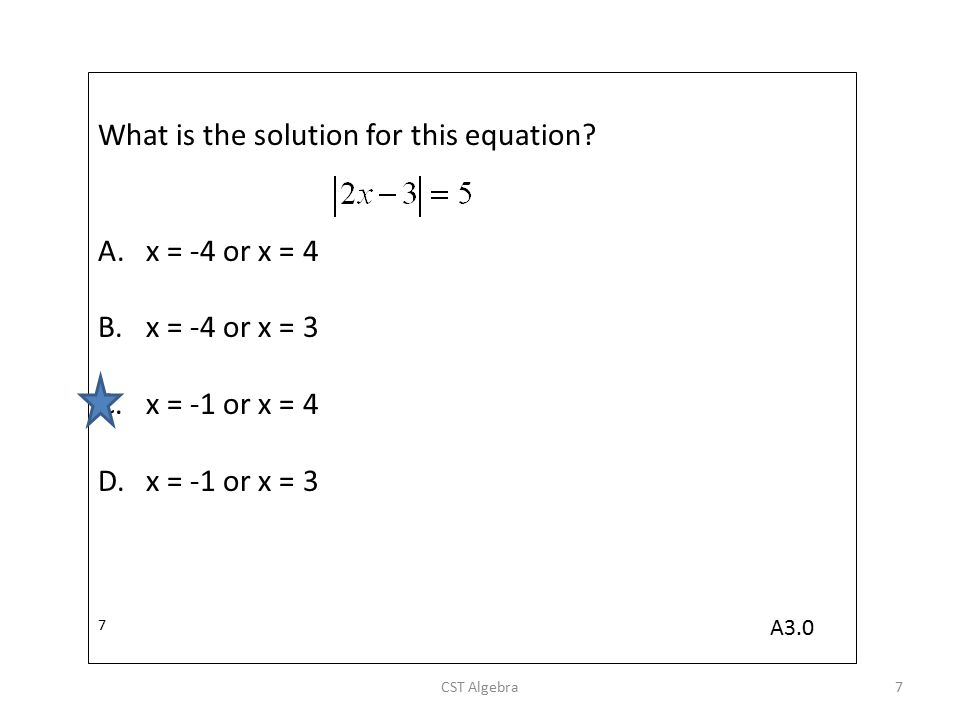 What is the solution for this equation