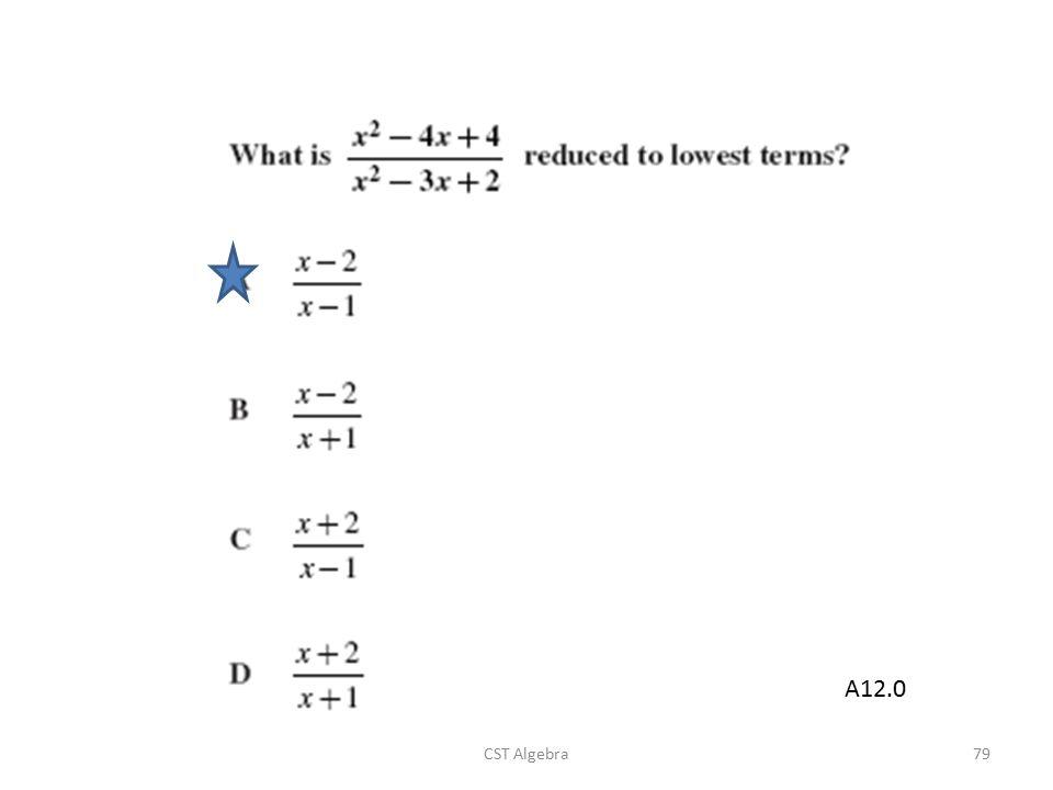 A12.0 CST Algebra