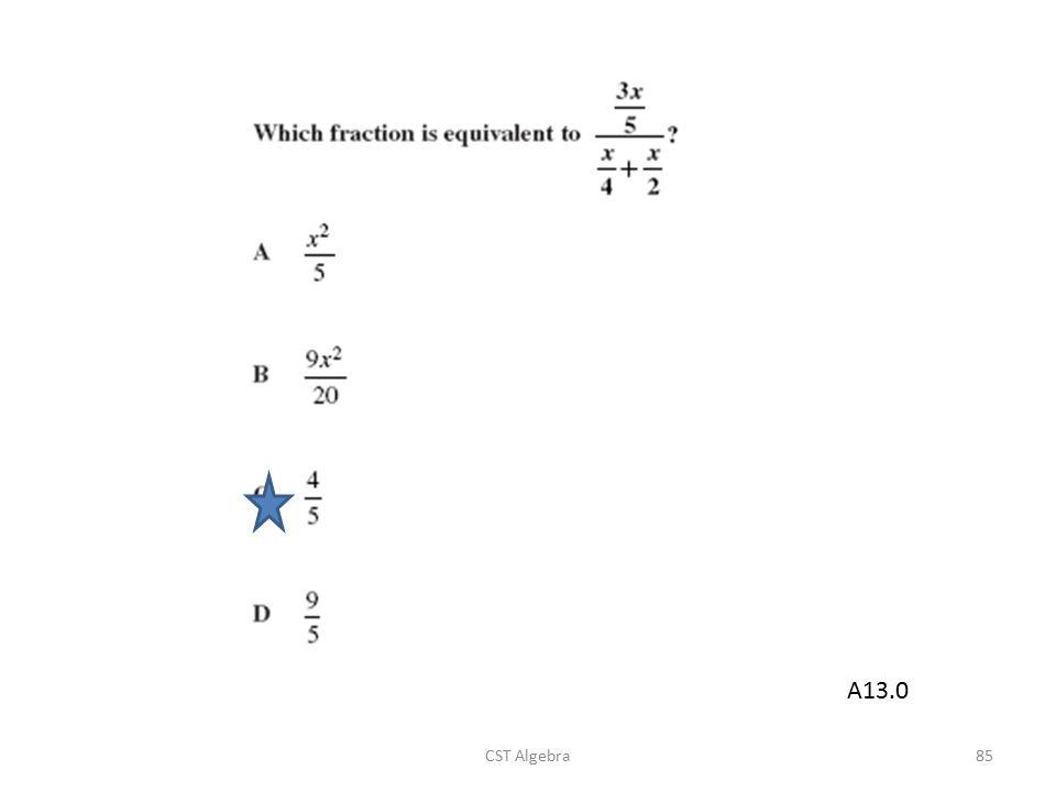 A13.0 CST Algebra