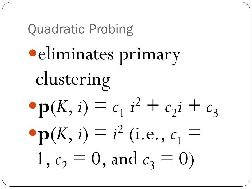 eliminates primary clustering p(K, i) = c1 i2 + c2i + c3