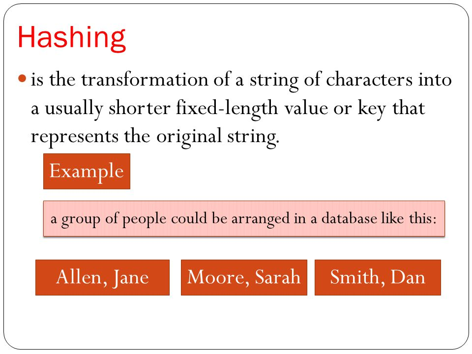 a group of people could be arranged in a database like this: