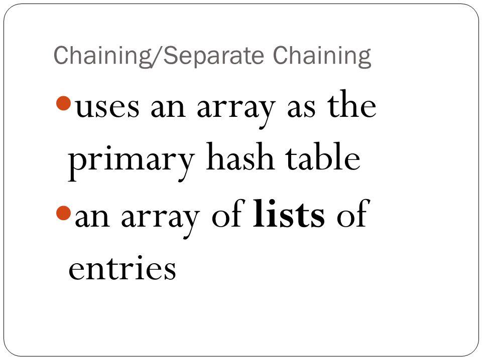Chaining/Separate Chaining