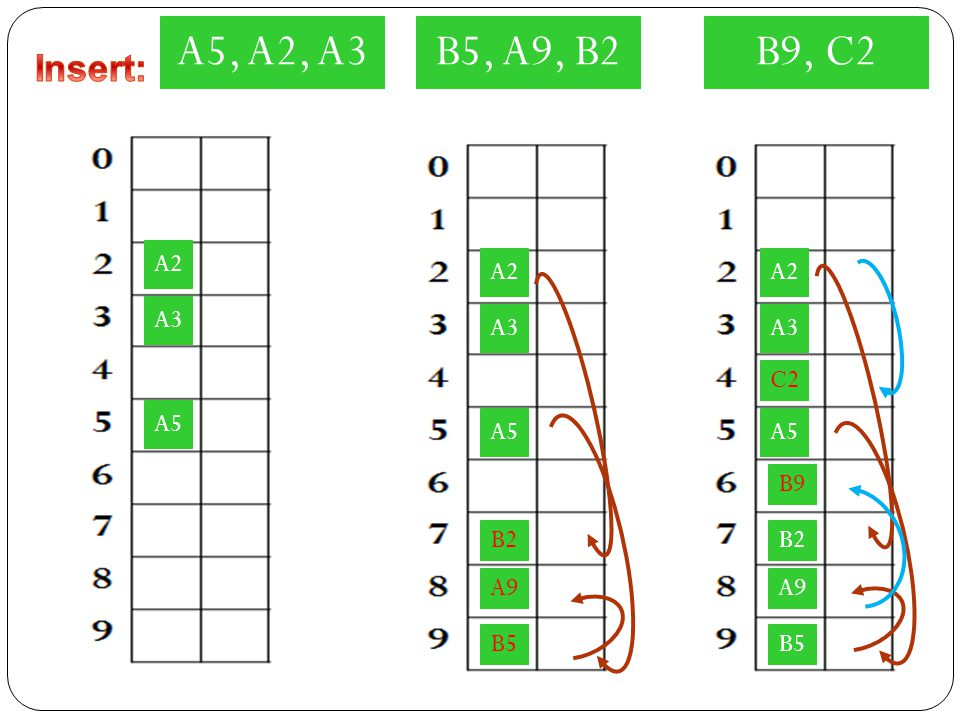 A5, A2, A3 B5, A9, B2 B9, C2 Insert: A2 A2 A2 A3 A3 A3 C2 A5 A5 A5 B9