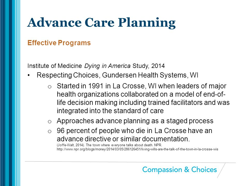 Advance Care Planning Effective Programs