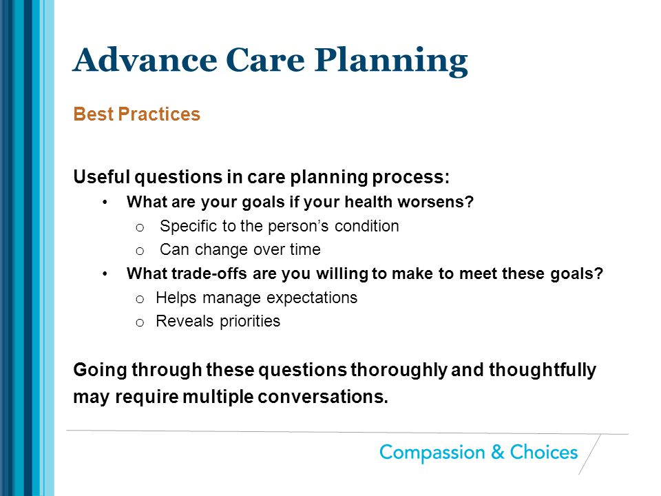 Advance Care Planning Best Practices