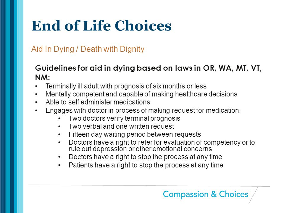 Aid In Dying / Death with Dignity