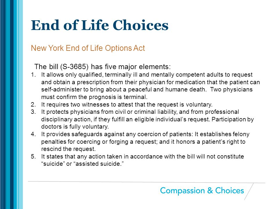 New York End of Life Options Act