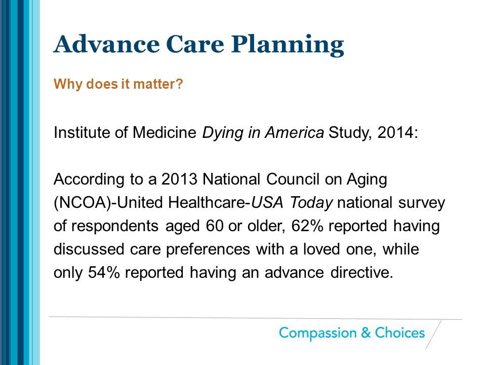 Advance Care Planning Why does it matter