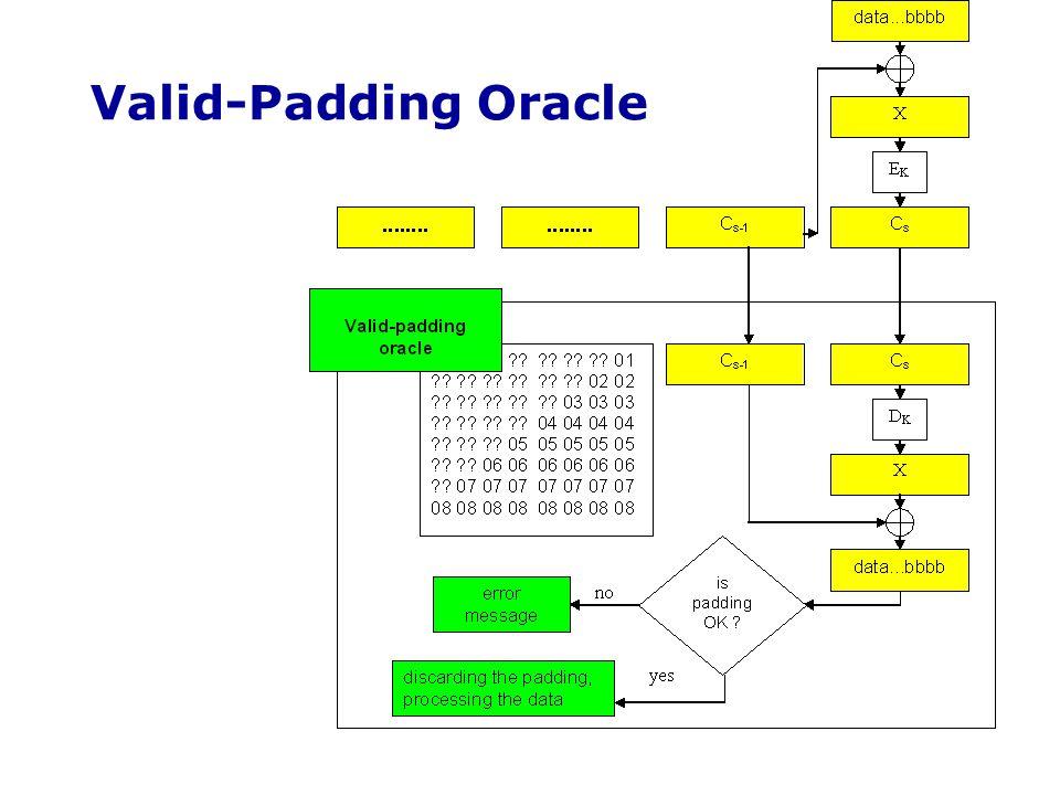 Valid-Padding Oracle