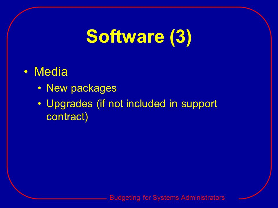Software (3) Media New packages