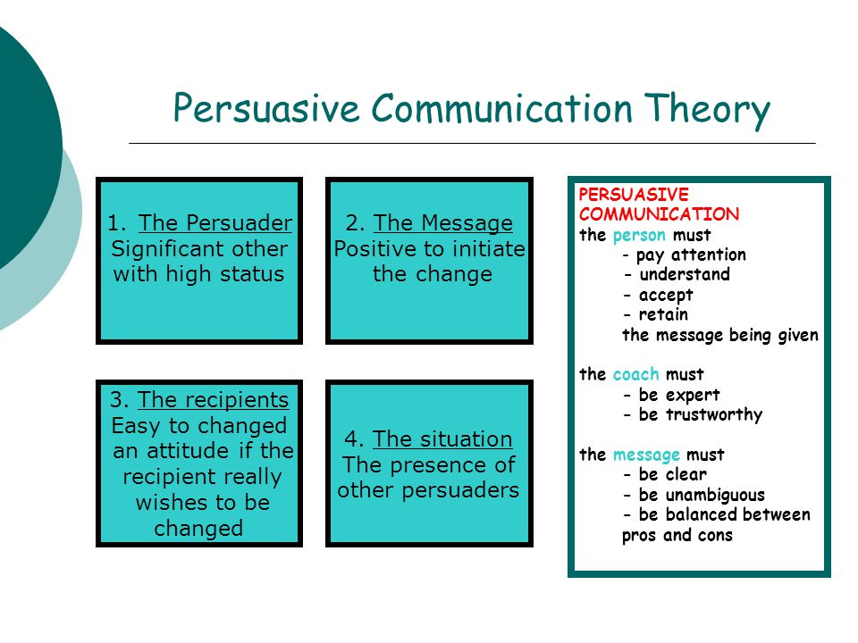 persuasive communication Persuasion | commgap persuasion defining persuasion persuasive communication is any message that is intended to shape, reinforce, or change the responses of another or others1 such responses are modified by symbolic transactions (messages) which are some-.