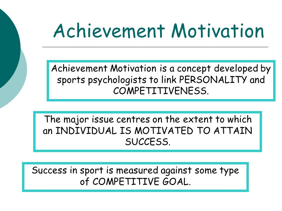 a study into achievement motivation and competitiveness Chapter 3: motivation developing achievement motivation and competitiveness using achievement motivation in professional practice what is motivation.