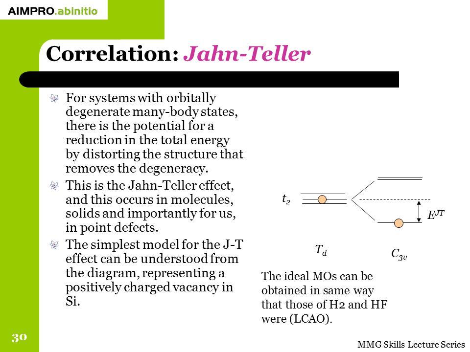 Correlation: Jahn-Teller