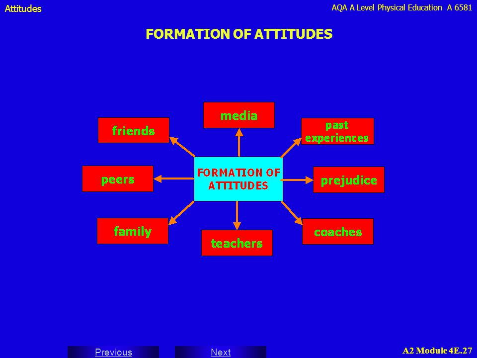 FORMATION OF ATTITUDES