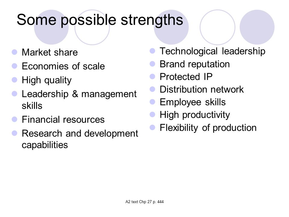 Some possible strengths