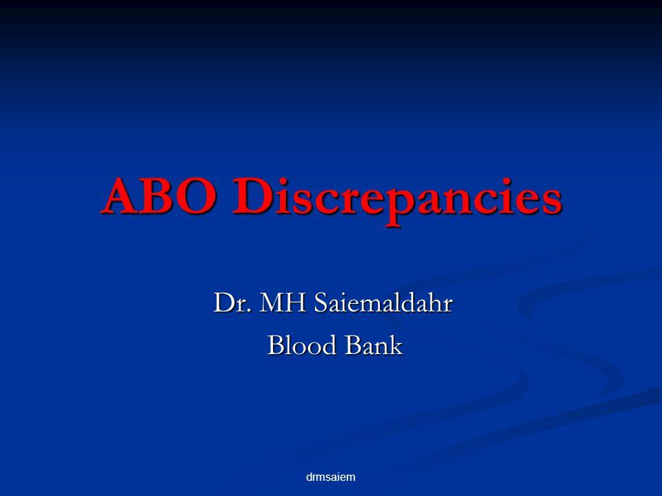 Dr. MH Saiemaldahr Blood Bank