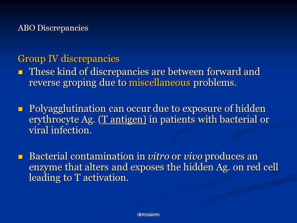 Group IV discrepancies
