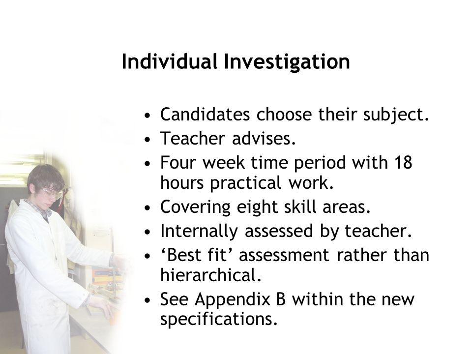 Individual Investigation