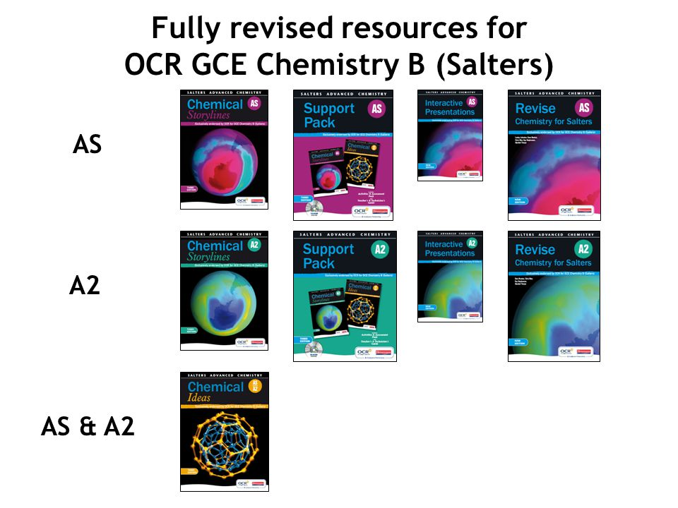 Fully revised resources for OCR GCE Chemistry B (Salters)