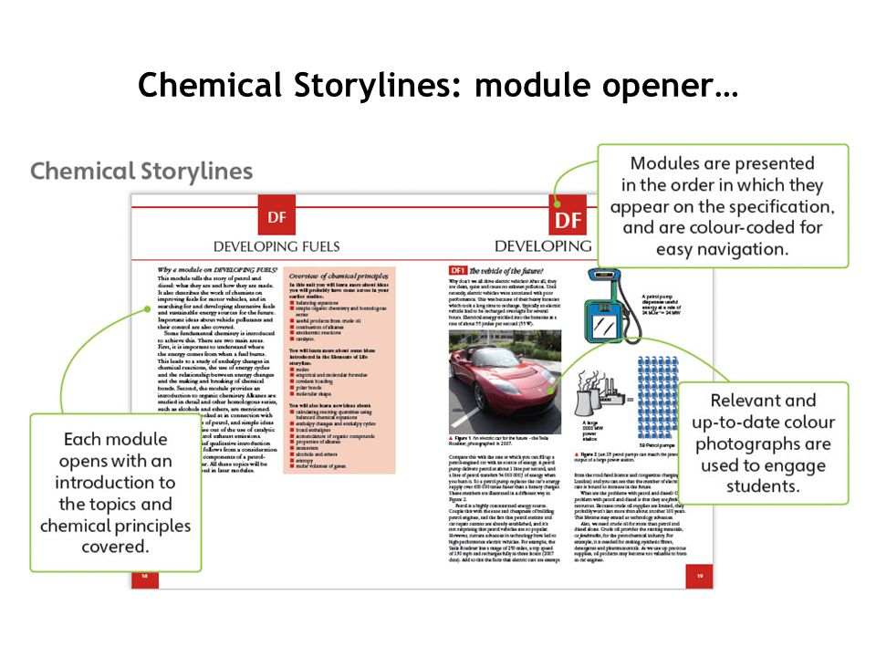 Chemical Storylines: module opener…