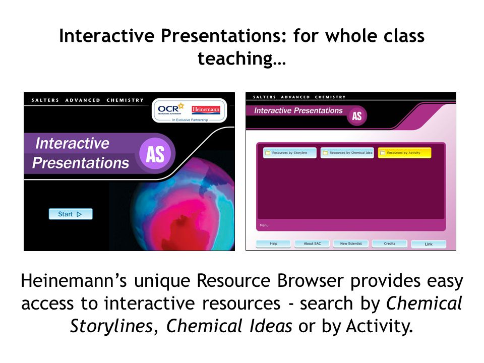 Interactive Presentations: for whole class teaching…