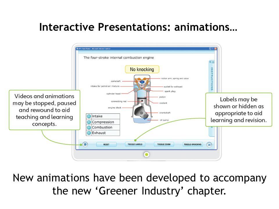Interactive Presentations: animations…