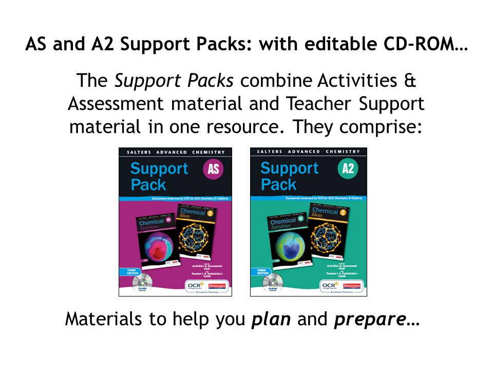 AS and A2 Support Packs: with editable CD-ROM…