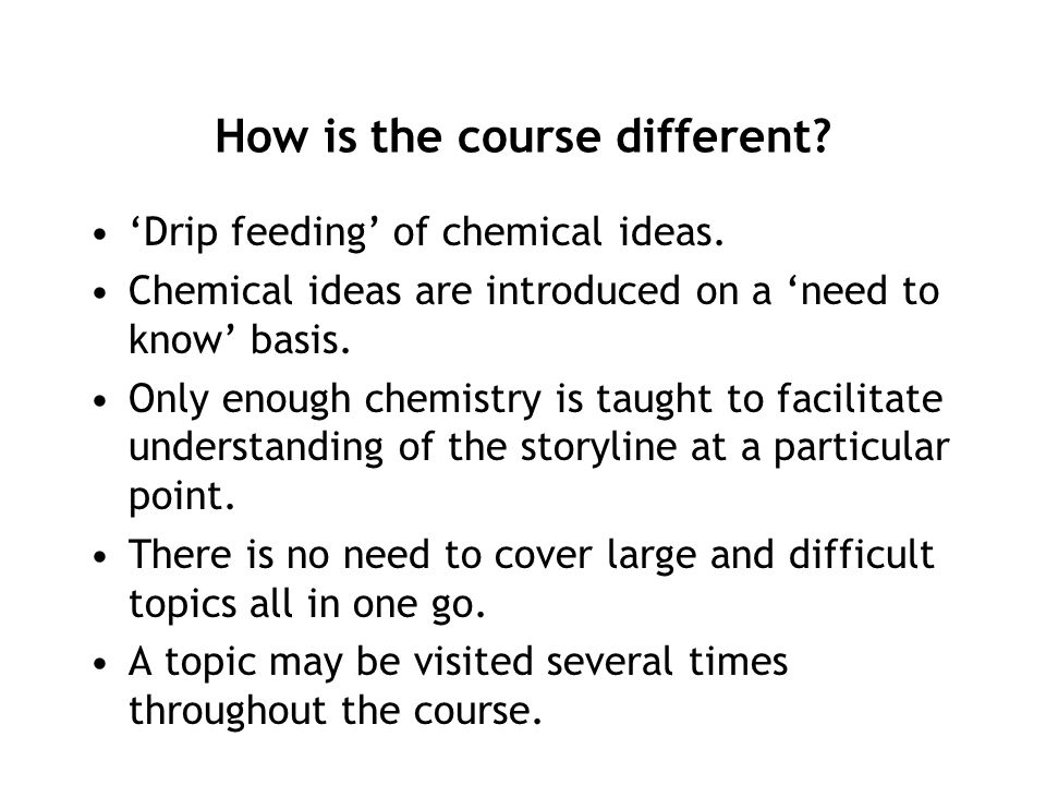 How is the course different