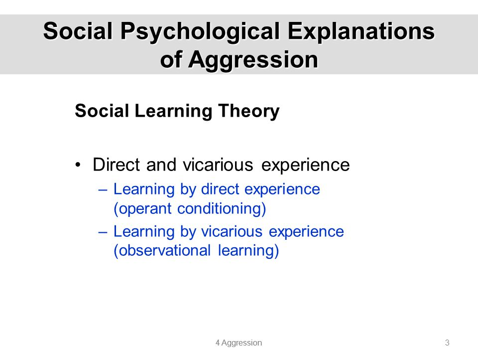 Social Psychological Explanations of Aggression