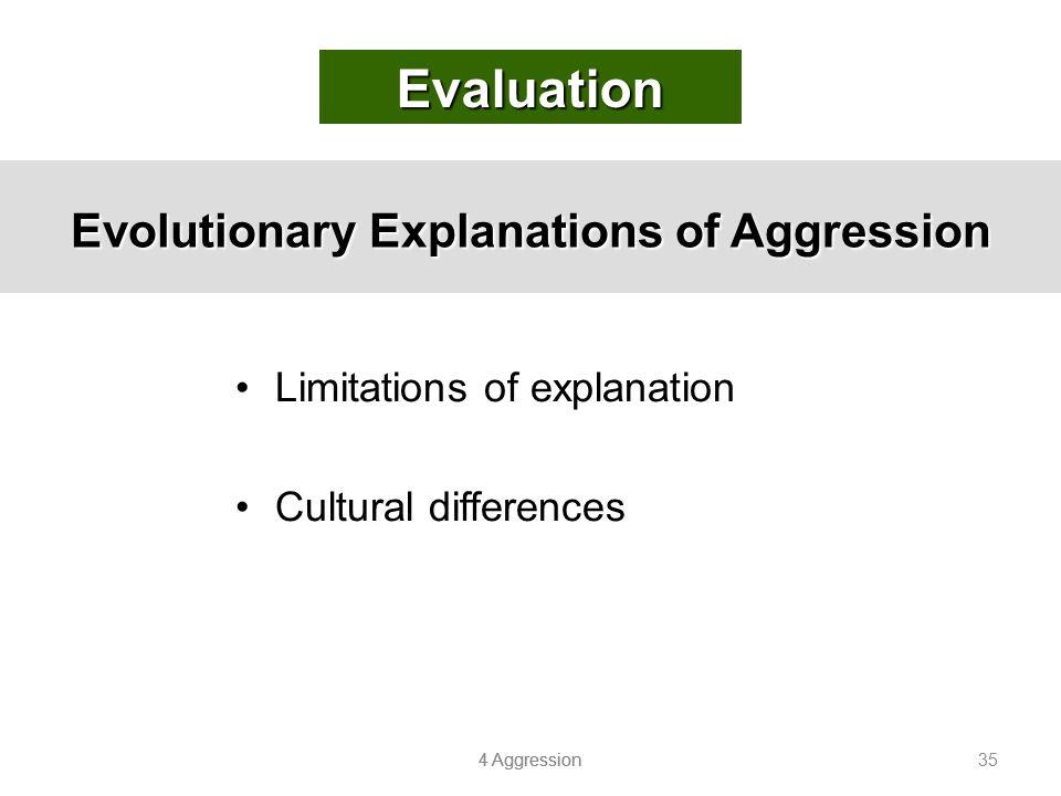 Evolutionary Explanations of Aggression