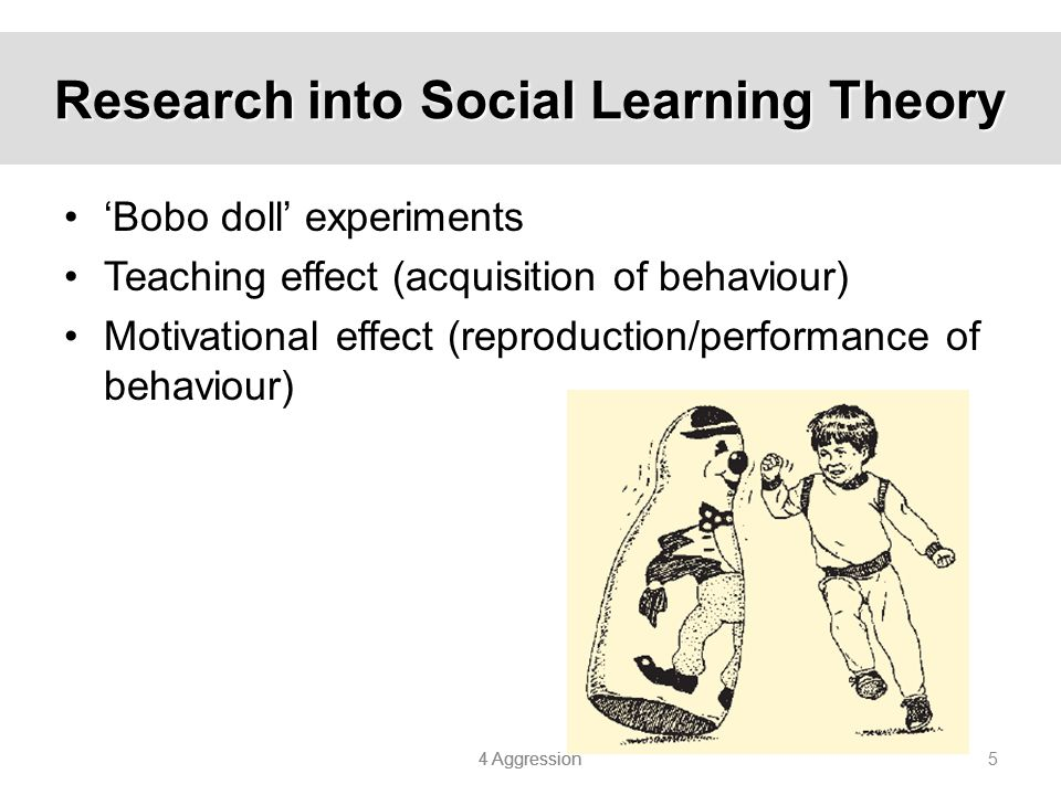 Research into Social Learning Theory