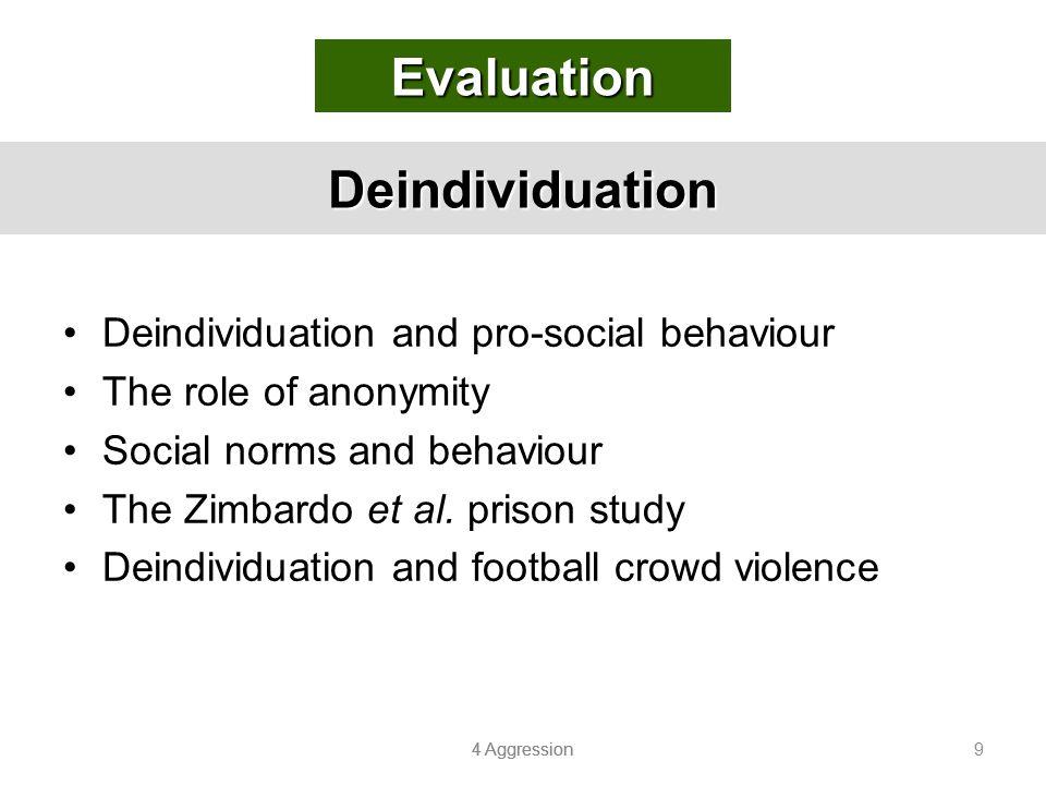 Evaluation Deindividuation