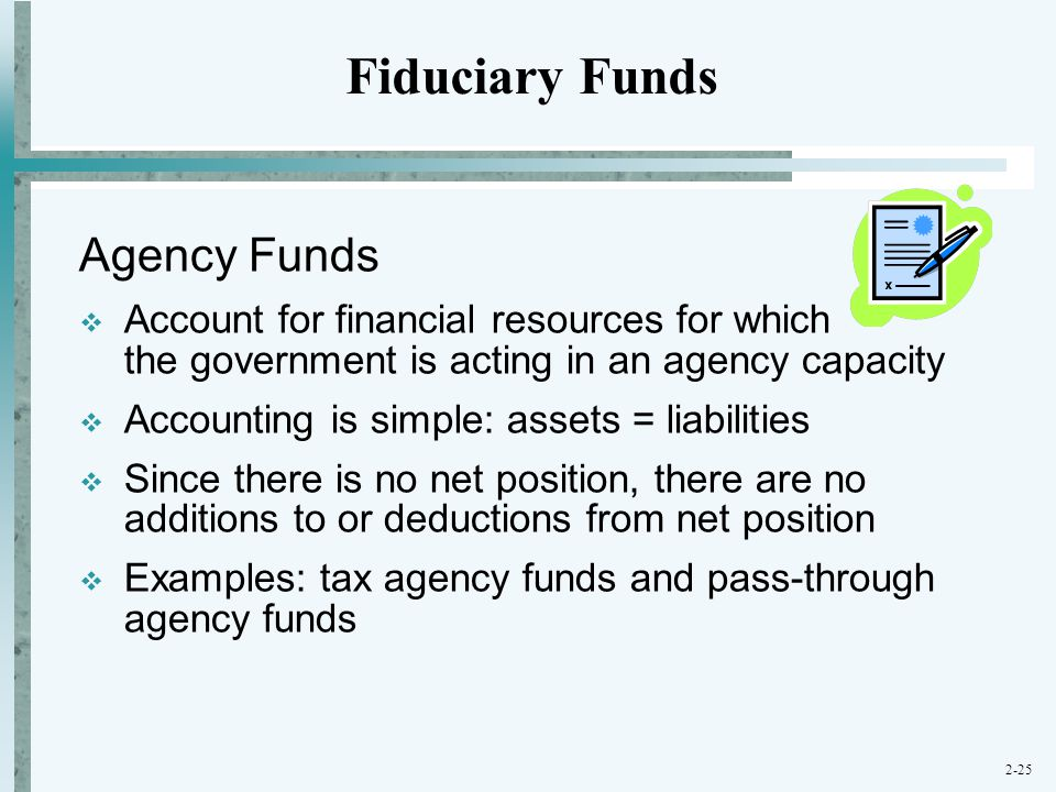Fiduciary Funds Agency Funds