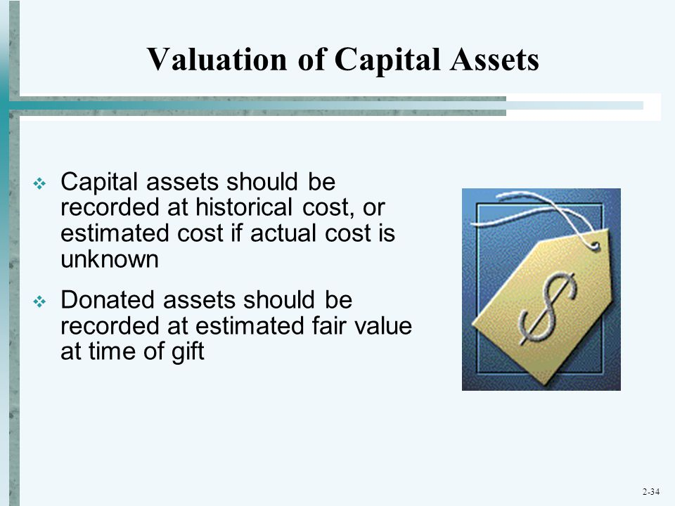 Valuation of Capital Assets