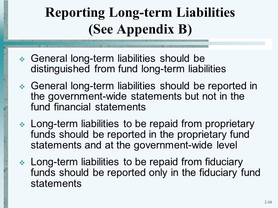 Reporting Long-term Liabilities (See Appendix B)