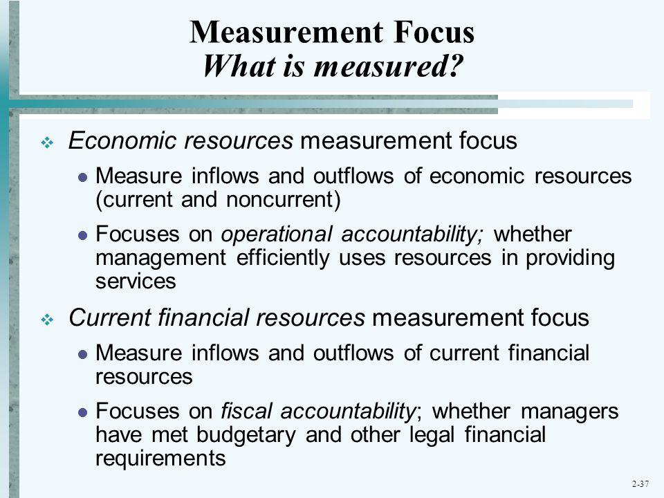 Measurement Focus What is measured