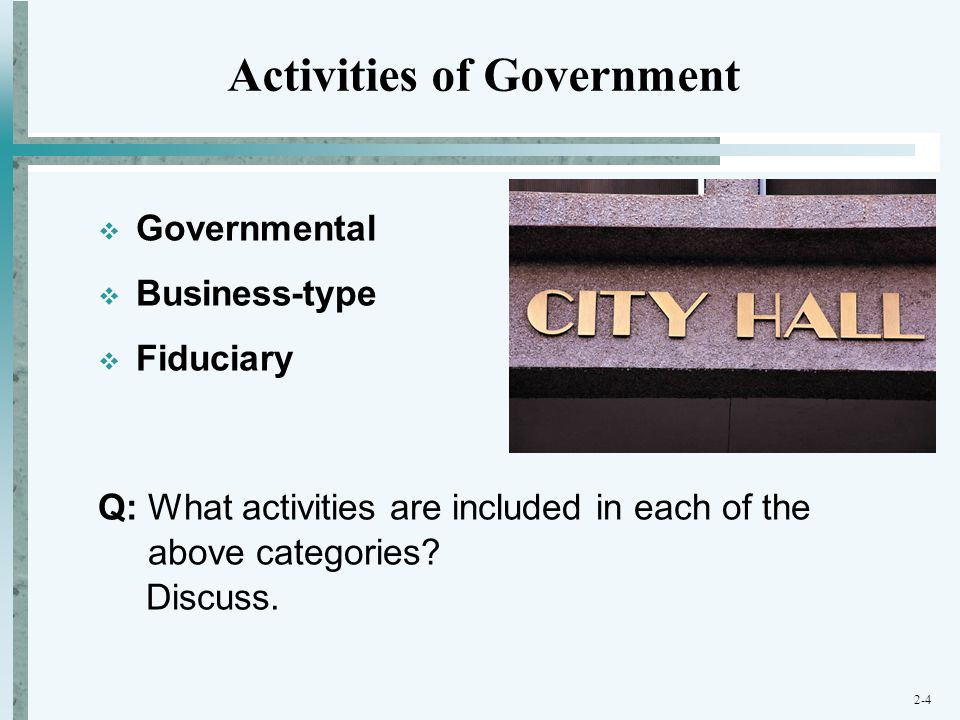 Activities of Government